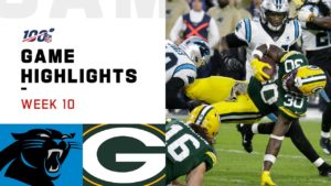 NFL 2019 Week 10 Highlights Panthers vs. Packers