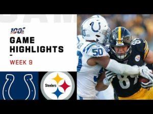 NFL 2019 Week 9 Highlights Colts vs. Steelers