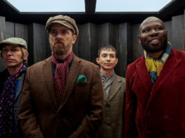 Bronson Webb, Brendan Hunt, Adam Colborne and Kevin 'KG' Garry in Ted Lasso season two, now streaming on Apple TV+.